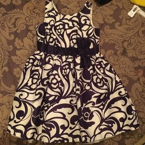 Gymboree purple and cream dress NWT